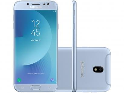 Smartphone Samsung Galaxy J7 Pro 64GB Azul - Dual Chip 4G Câm. 13MP + Selfie...