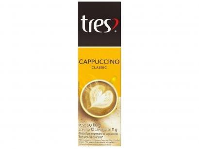 Cápsula de Cappuccino 3 Corações Classic TRES - 10 Unidades