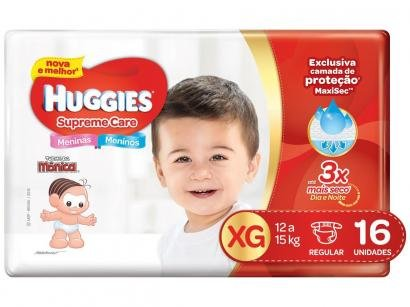 Fralda Huggies Supreme Care - Tam. XG 12 a 15kg 16 Unidades