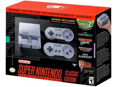 Super Nintendo Classic Edition Compacto - 2 Controles Conexão HDMI e USB 21...