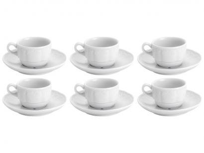 Jogo de Xícaras para Café Porcelana 6 Peças - Wolff Limoges Didon