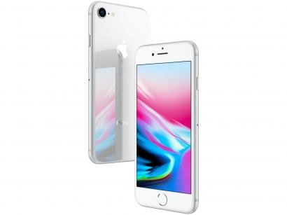 "iPhone 8 Apple 256GB Prata 4G Tela 4,7"" Retina - Câmera 12MP + Selfie 7MP iOS..."