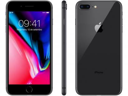 "iPhone 8 Plus Apple 64GB Cinza Espacial 4G - Tela 5,5"" Retina Câmera 12MP iOS..."