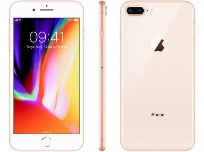 iPhone 8 Plus Apple 64GB Dourado 4G Tela 5,5 - Retina Câmera 12MP iOS 11 Proc....
