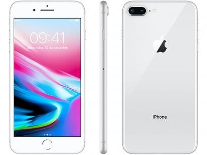 iPhone 8 Plus Apple 256GB Prata 4G - Tela 5,5 Retina Câmera 12MP iOS 11 Proc....