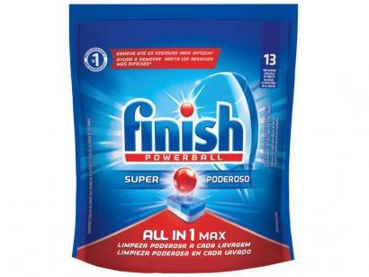 Sabão para Lava-Louças Finish - Powerball Super Poderoso Tablete