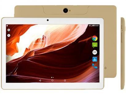 "Tablet Multilaser M10A 16GB 10"" 3G Wi-Fi - Android 7 Nougat Proc. Quad Core Câm..."