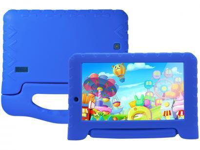 "Tablet Multilaser Kid Pad Plus 8GB 7"" Wi-Fi - Android 7.0 Proc Quad Core Câmera..."