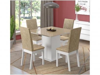 Conjunto de Mesa 4 Cadeiras Estofadas Madesa - Moscou
