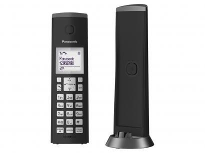 Telefone Sem Fio Panasonic KX-TGK210LBB - Identificador de Chamadas Viva Voz...