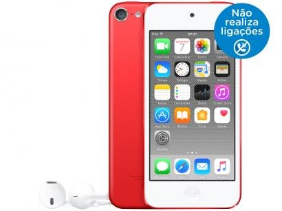 iPod Touch Apple 32GB Tela Multi-Touch Bluetooth - Câm. 5MP + Selfie Vermelho