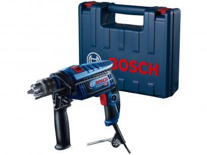 """Furadeira de Impacto Bosch 650W Velocidade - Variável Mandril 1/2"""" GSB 13 RE Pro Com Maleta"""