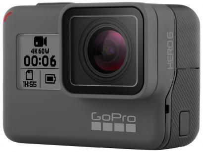 "GoPro Hero Black 6 À prova de Água12MP Wi-Fi - Bluetooth Gravação 4K Display 2"""