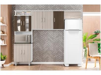 Cozinha Compacta Poliman Suíça - Nicho para Micro-ondas 8 Portas