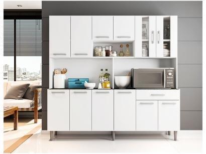 Cozinha Compacta Poliman Clara com Balcão - Nicho para Micro-ondas 12 Portas 1...