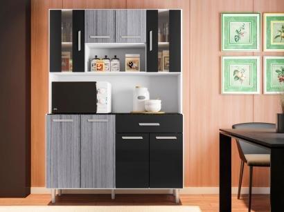 Cozinha Compacta Poliman Gabi com Balcão - Nicho para Micro-ondas 8 Portas 1...