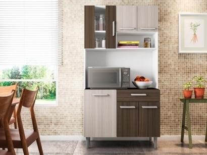 Cozinha Compacta Poliman Carol 6 Portas - 1 Gaveta