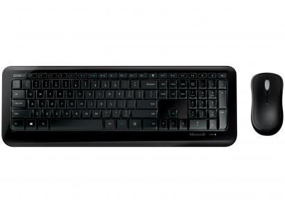 Kit Teclado e Mouse Sem Fio Microsoft - 850