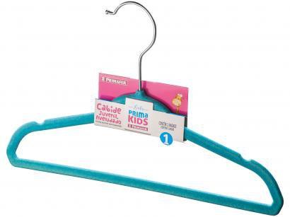 Cabide Infantil de Veludo Azul Primafer Prima Kids - 1 Unidade