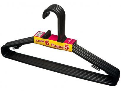 Cabide de Plástico Primafer 103-6 - 6 Peças