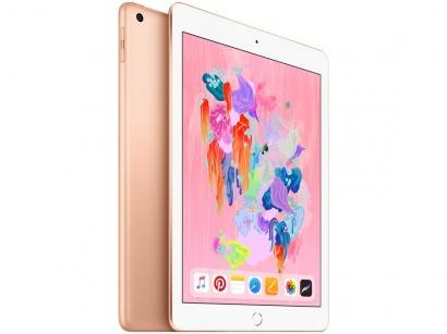 "iPad 6 Apple 4G 32GB Dourado Tela 9,7"" - Retina Proc. Chip A10 Câm. 8MP +..."