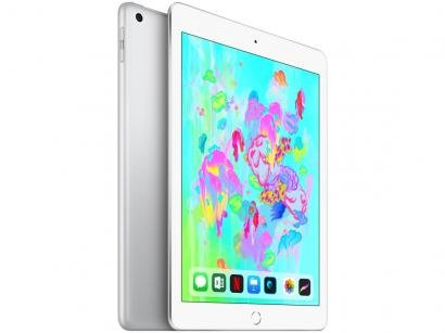 "iPad 6 Apple 32GB Prata Tela 9.7"" Retina - Proc. Chip A10 Câm. 8MP + Frontal..."