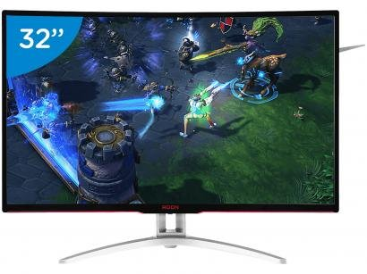 "Monitor Gamer AOC LCD Curvo 31,5"" IPS Full HD - Widescreen Agon"