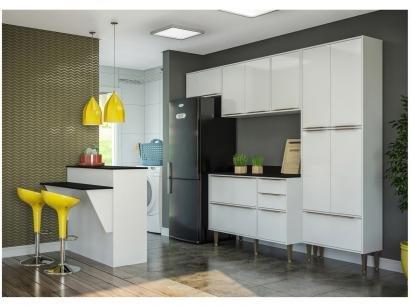 Cozinha Compacta Multimóveis Paris com Balcão - 11 Portas 3 Gavetas