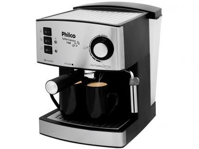 Cafeteira Elétrica Philco Coffee Express - 2 Xícaras Prata e Cinza
