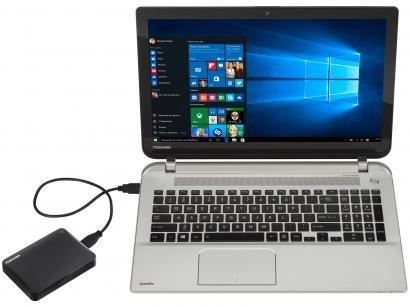 HD Externo 2TB Toshiba Canvio Connect II - HDTC810XK3A1 USB 3.0