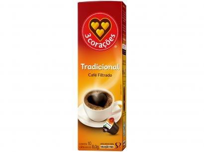 Cápsula de Café Filtrado Clássico TRES 3 Corações - 10 Cápsulas