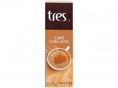 Cápsula de Café com Leite 3 Corações TRES - 10 Unidades