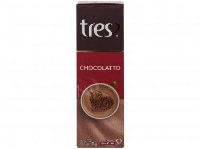 Cápsula de Chocolate 3 Corações Chocolatto TRES - 10 Unidades