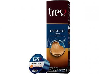 Cápsula de Café Expresso Descafeinado 3 Corações - Decaf TRES 10 Unidades