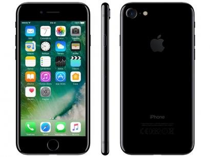 "iPhone 7 Apple 32GB Preto Brilhante 4G Tela 4,7"" - Retina Câm 12MP + Selfie 7MP..."