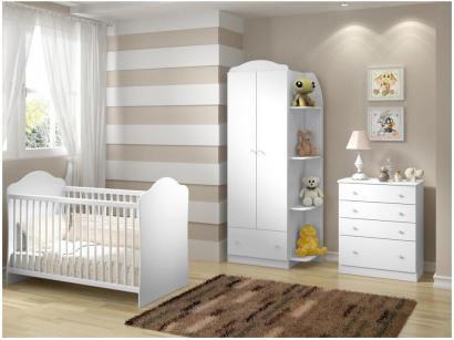 Quarto de Bebê Completo com Berço Guarda-Roupa - e Cômoda Multimóveis Confete Luiza