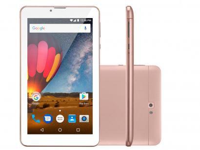 "Tablet Multilaser M7 3G Plus 8GB 7"" Wi-Fi - Android 7.0 Proc. Quad Core Câmera..."