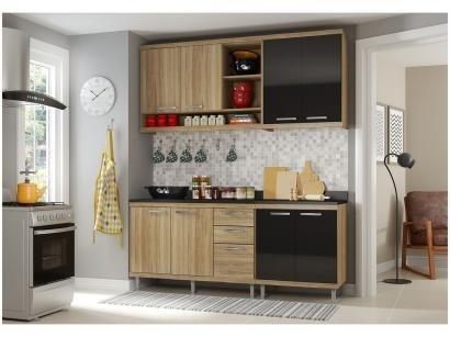 Cozinha Compacta Multimóveis Sicília - 5819132080610 com Balcão 8 Portas 3...