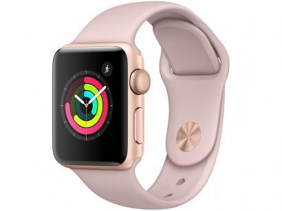 Apple Watch Series 3 38mm Alumínio 8GB Esportiva - Dourado GPS Integrado...