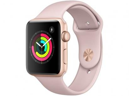 Apple Watch Series 3 42mm Alumínio 8GB Esportiva - Dourado GPS Integrado...