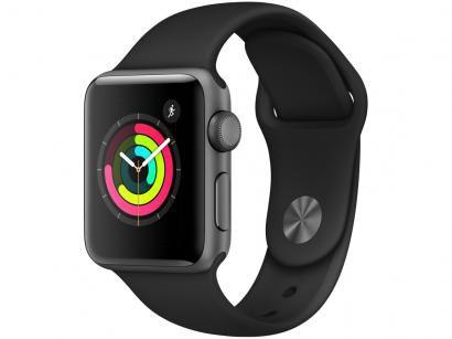 Apple Watch Series 3 38mm Alumínio 8GB Esportiva - Cinza GPS Integrado...