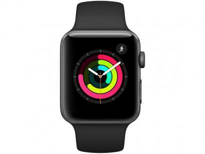 Apple Watch Series 3 42mm Alumínio 8GB Esportiva - Cinza GPS Integrado...