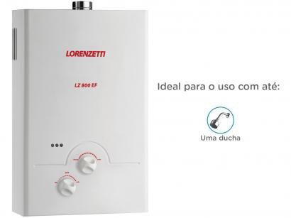 Aquecedor de Água à Gás - Lorenzetti LZ 800 EF GLP Vazão 8,0 l/min