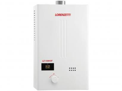 Aquecedor de Água à Gás - Lorenzetti LZ 1500 EF GN Vazão 15,0 l/min