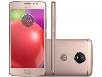 Smartphone Motorola Moto E4 16GB Ouro Rosê - Dual Chip 4G Câm. 8MP + Selfie 5MP...