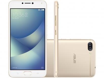 Smartphone Asus ZenFone 4 Max 32GB Dourado - Dual Chip 4G Câm. 13MP e 5MP +...