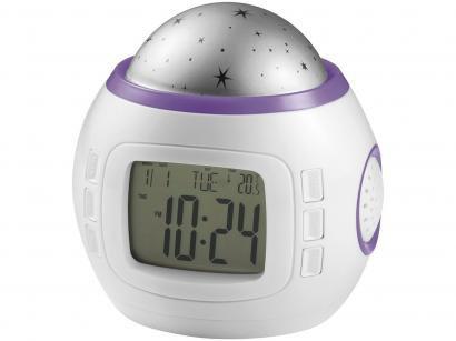 Projetor de Luz Multikids Baby Star com Relógio - Emite Sons Termômetro