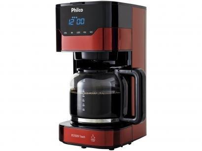 Cafeteira Elétrica Philco PCFD38V Touch 38 Xícaras - Preto e vermelho