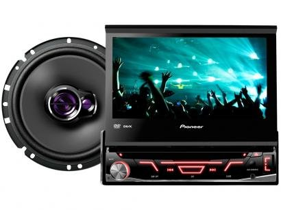 DVD Automotivo Pioneer AVH-3880DVD Tela 7 - Retrátil Touch 92 Watts +...