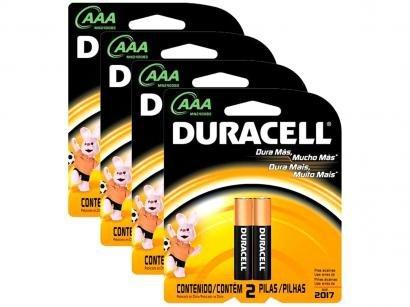 Kit Pilhas Alcalina AAA 1200mnAh 8 Unidades - Duracell
